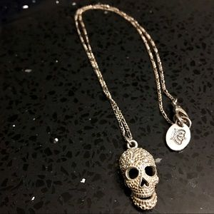 Rare Juicy Couture Silver Skull Necklace!!